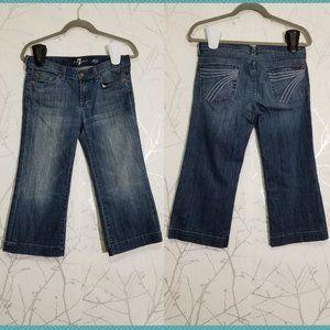 7 For All Mankind Low Rise Dojo Capri Jeans